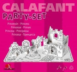 Partyset prinsessen. In deze transparante zak zitten 1 grondplaat, 1 kasteel, prinses, prins en paardje