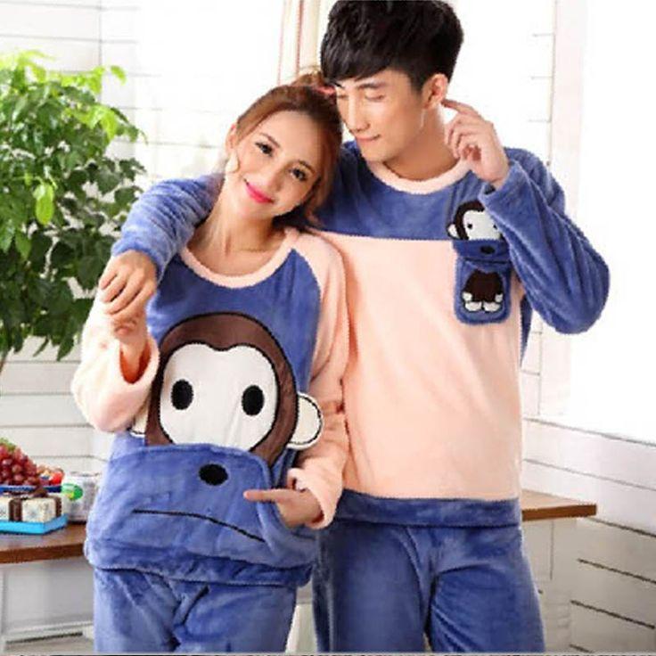 Big Size Flannel Winter Couple Pajama Sets Pijama Mujer Plus Size Pijamas Entero Pyjamas Feminino Pink Pajamas Set Pyjama Women