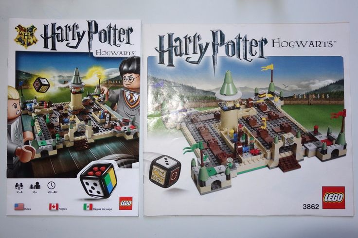Replacement GAME RULES MANUAL ONLY Lego 3862 Harry Potter Hogwarts Board Game