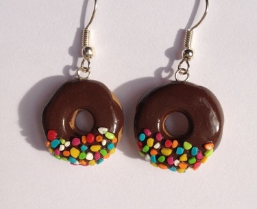 Boucles d'oreilles donuts Fimo