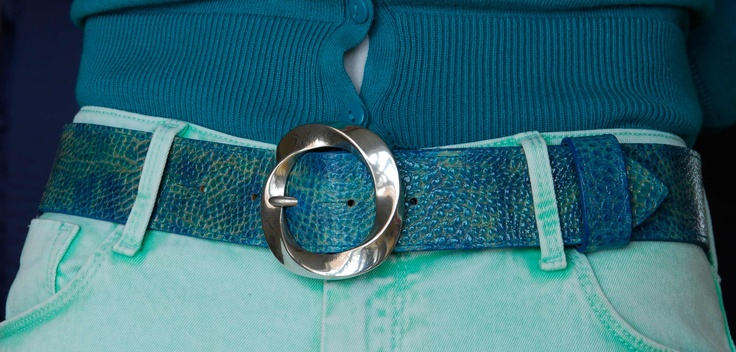 solid pewter twirl belt buckle £35 on sea blues gecko belt £75. total £110