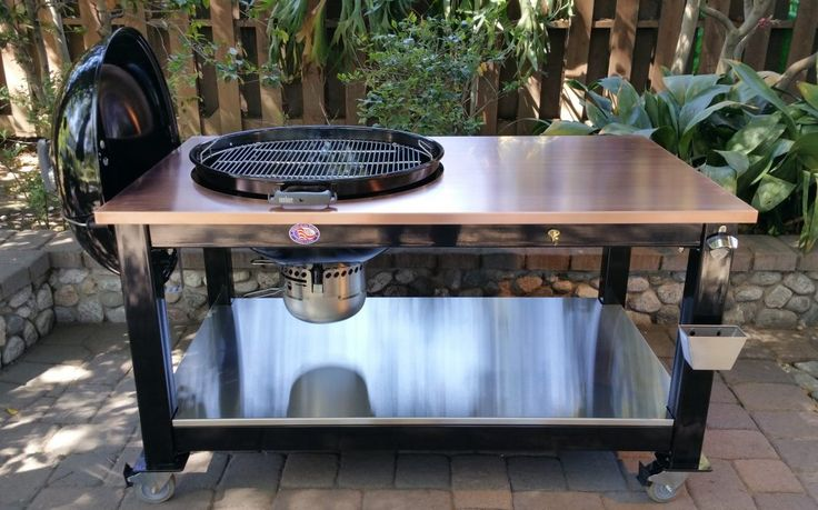 Table gallery brian alan tables weber kettle pinterest tables galler - Table barbecue integre ...