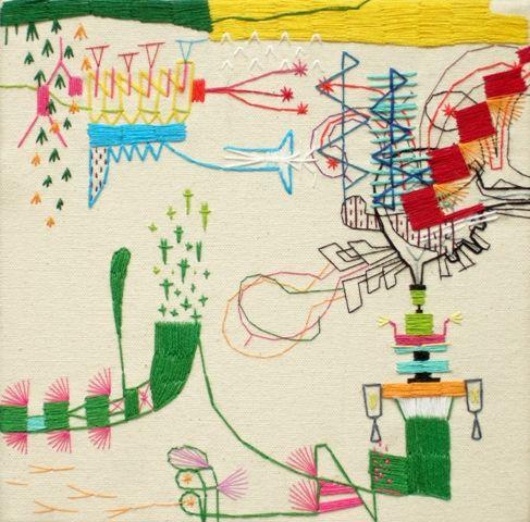 takashi iwasaki #colorful #abstract #art: Craft, Inspiration, Embroidery, Iwasaki Embroidery, Illustration, Fiber, Textile Art, Embroidery Art