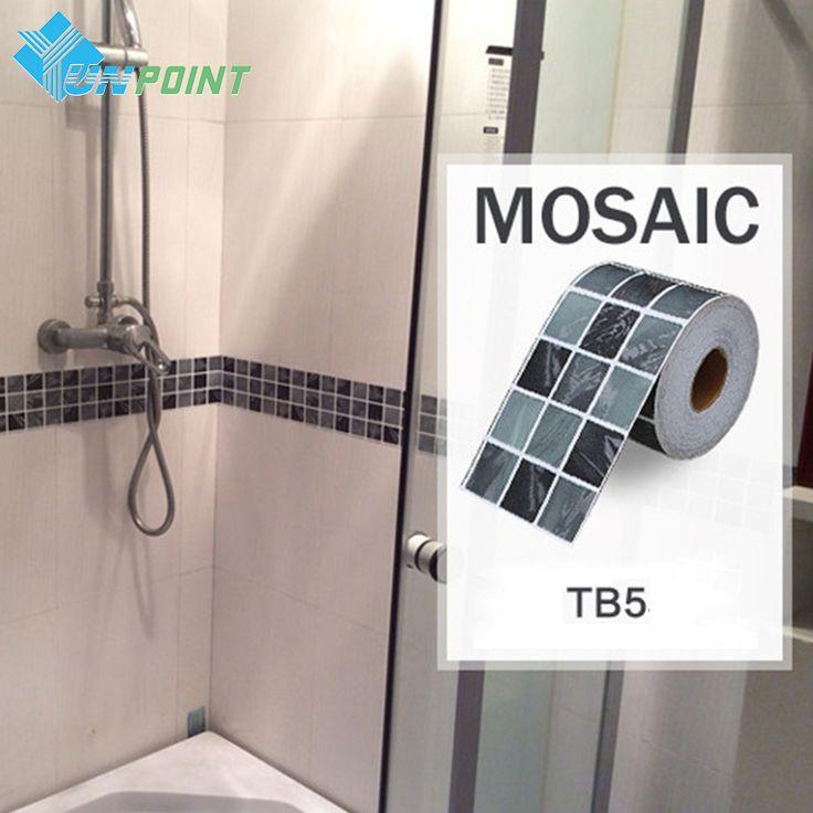$13.32 (Buy here: https://alitems.com/g/1e8d114494ebda23ff8b16525dc3e8/?i=5&ulp=https%3A%2F%2Fwww.aliexpress.com%2Fitem%2F5m-roll-Classical-mosaic-vinyl-waterproof-waistline-self-adhesive-wallpaper-kitchen-bathroom-tiles-pvc-wall-stickers%2F32411999750.html ) Classical mosaic stickers vinyl waterproof waistline self adhesive wallpaper, kitchen bathroom tiles pvc wall sticker borders for just $13.32