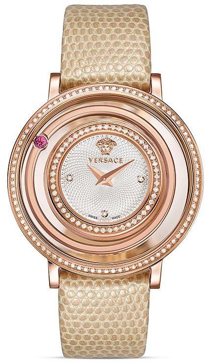 Versace Venus Diamond Rose Gold PVD Watch with Lizard Strap , 39mm  | ≼❃≽ @kimludcom