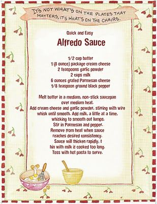 Grammas cookbook: Easy Alfredo Sauce