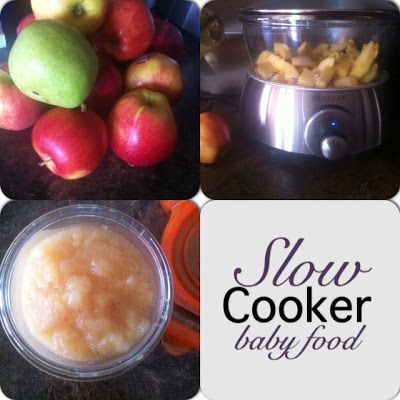 Ten recipes for Slow Cooker Baby Food #organic @Amber Shutts I thought of you for next baby! I know you love to make your own baby food and thought you might like this!