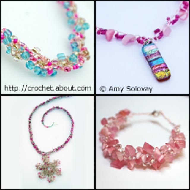 May Holiday #Crochet Ideas: Mother's Day Jewelry to Crochet