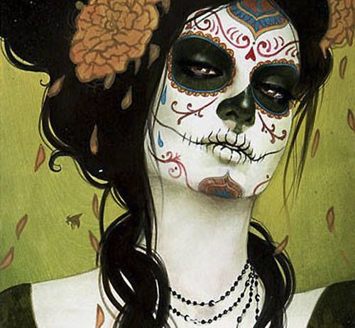 crying doll: Halloween Costumes, Makeup, Sylvia Ji, Sugar Skull, Of The, Dead, Day, Sylviaji, Costumes Ideas