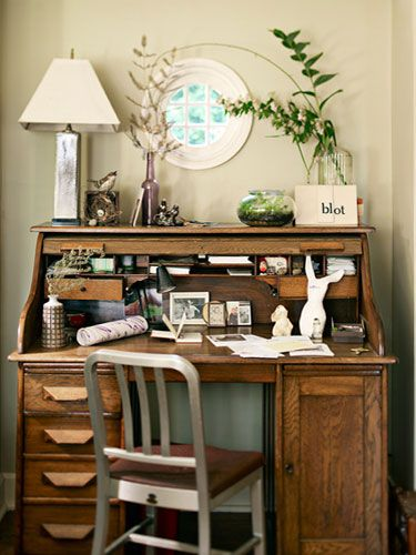 #Antique #Decor for a #home #office !