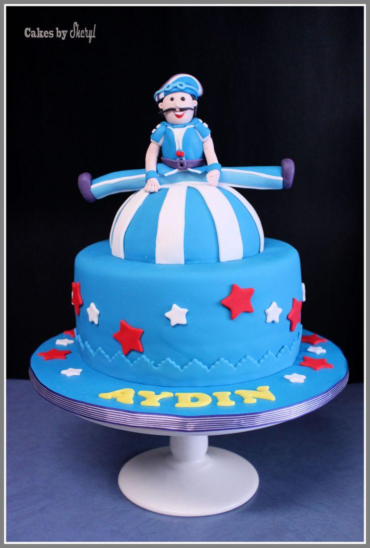 Lazy Town's Sportacus theme cake