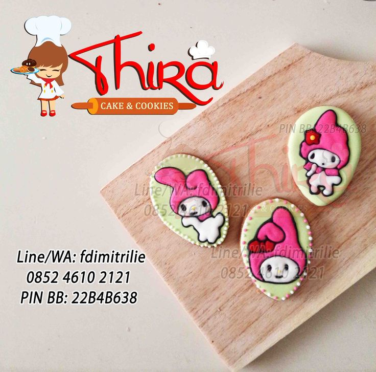Decorated Cookies.. My melody themed cookies