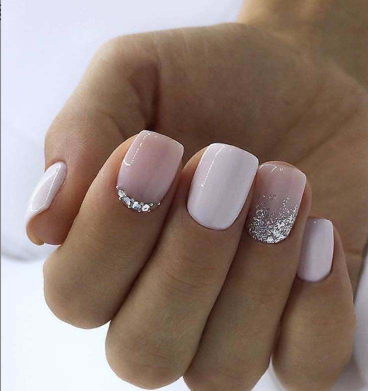 36 Sparkle Glitter Acryl Nail Designs Ideen für Short Square & Mandelnägel    …