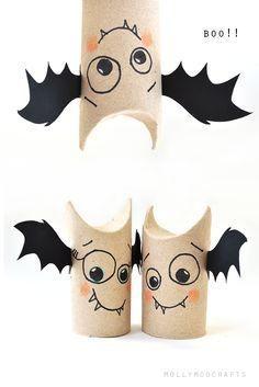 5min craft: Toilet Roll Bat Buddies