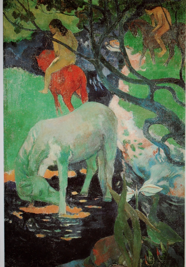 the white horse  by Paul Gauguin (1848-1903): Musée Dorsay, The White Horses, Artists, Paul Gauguin, 1898, Doce Paul, Paulgauguin, Paul Gaugin, White Horse