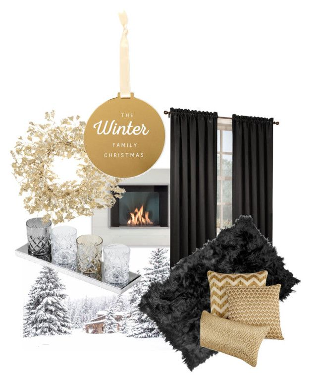 """""""Family Christmas - Cosy"""" by inauniqe on Polyvore featuring interior, interiors, interior design, home, home decor, interior decorating, Natural by Lifestyle Group and Hotel Collection"""
