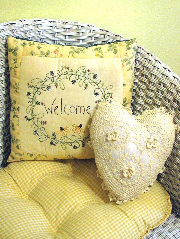Welcome to our cottage in yellows, golds, honey and cream