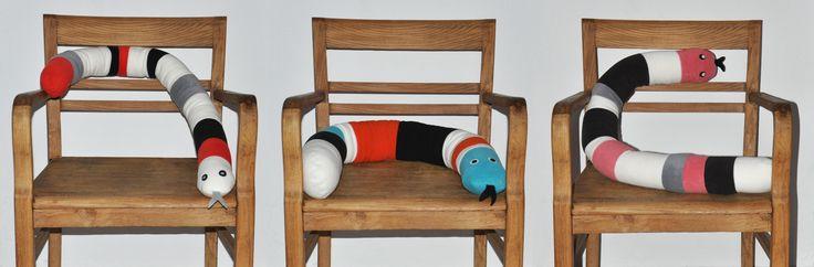 Węże / ochraniacze do łóżeczka #kidsdesign #szaryfika #handmade #blackandwhite #toy #mascot #snake