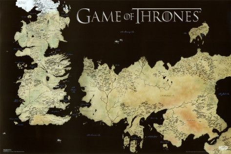 Game of Thrones Horizontal Map Photo at AllPosters.com