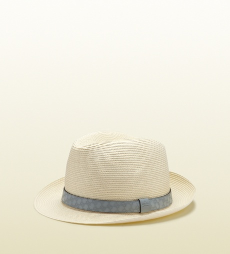 Fedora Hats For Men | Gucci Natural Straw Fedora Hat in Beige for Men (natural) - Lyst