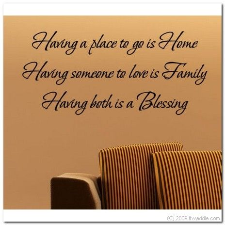HAVING A HOME FAMILY BLESSING  Vinyl Wall Lettering by itwaddle, $17.95