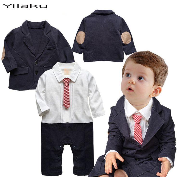 Купить товарМалышей мальчики комплект одежды плед связать с длинным рукавом ползунки для новорожденного джентльмен ну вечеринку одежда ползунки + верхняя одежда CF366 в категории Комплекты одеждына AliExpress.     Малыша мальчиков, Одежда Набор плед галстук комбинезон с длинным рукавом для новорожденного ребенка джентльмен парти