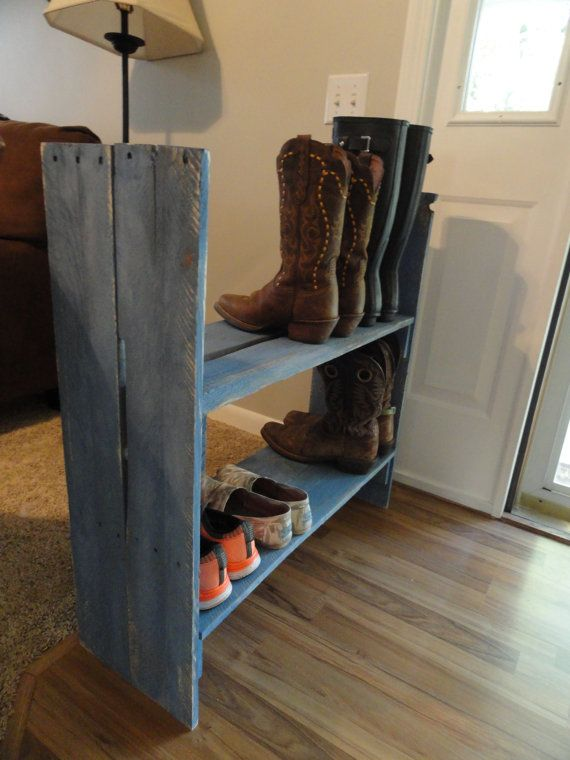 Handmade Shoe/Boot Rack Reclaimed Wood Wood by ACatNamedDanger