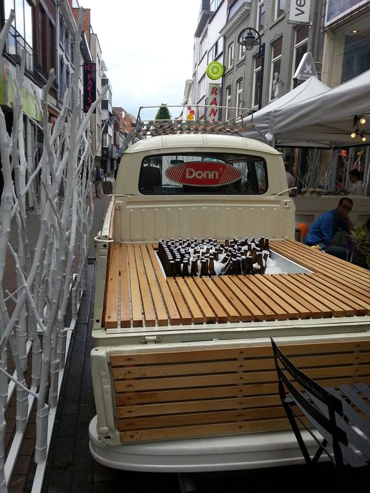 Great party drink cooler - the bed of an old pickup.