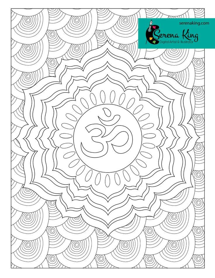 Crown Chakra Coloring Page