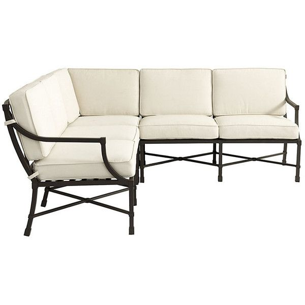 Ballard Designs Suzanne Kasler Directoire 3 Piece Sectional ($2,599) ❤  Liked On Polyvore
