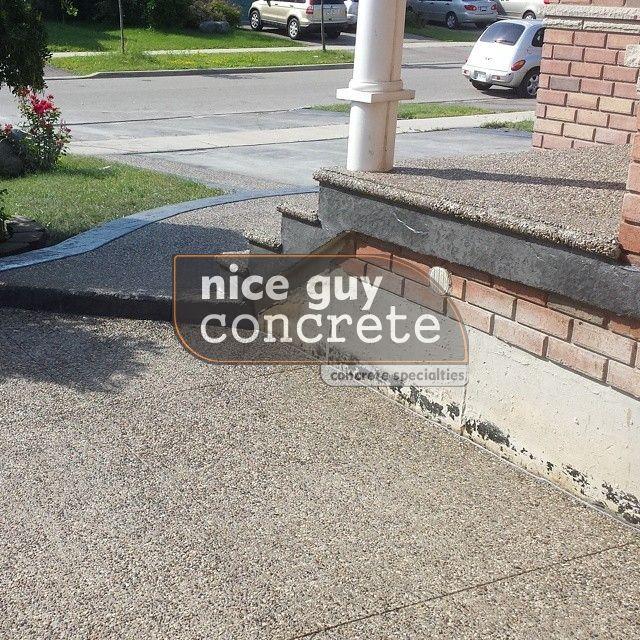 exposed aggregate  concrete contractor in Milton, Ontario