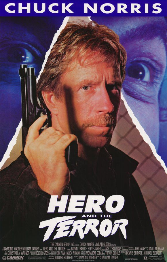"""Hero And The Terror (1988) A notorious killer is back to terrorize Los Angeles, and only one man can stop him. Martial arts superstar Chuck Norris packs a powerful punch I this """"exciting"""" (Variety) ac"""