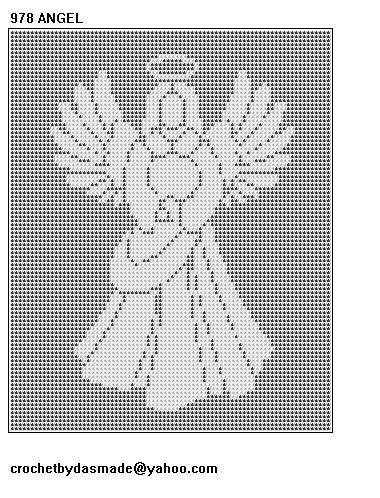 Free Crochet Angel Afghan Pattern   978 Angel Filet Crochet Doily Afghan Tablecloth Pattern