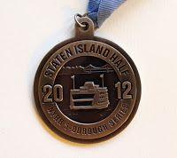Staten Island Half marathon medal 2012