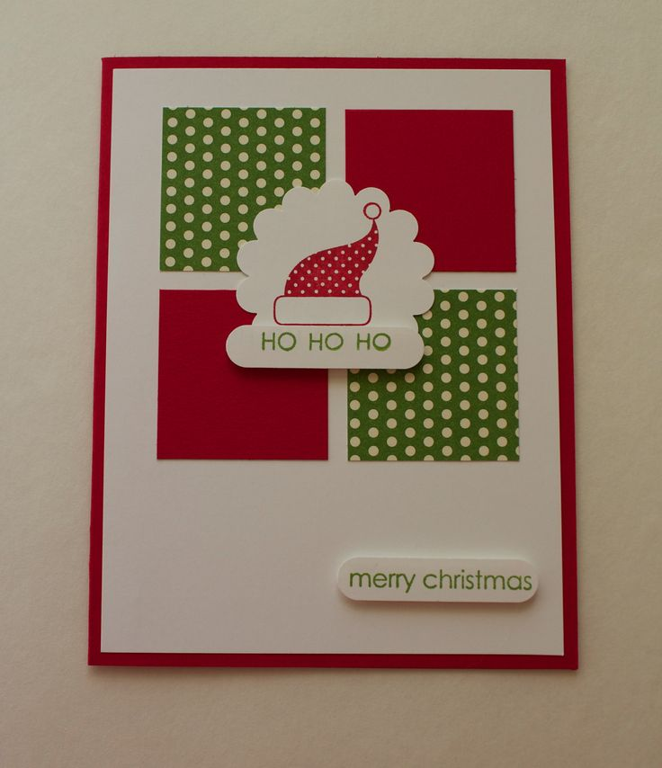 www.heathertrimble.stampinup.net Christmas Card - Handmade - blank inside. $4.00, via Etsy.