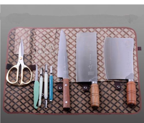 5-Pocket-Synthetic-Leather-Chef-Knife-Bag-Case-Roll-Bag-Cutlery-Holder-Wallet