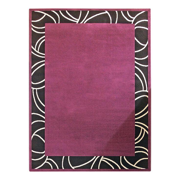 Teppich Prime Pile Bordüre - Schwarz/Violett - 190 x 280 cm, Hanse Home Collection Jetzt bestellen unter: https://moebel.ladendirekt.de/heimtextilien/teppiche/sonstige-teppiche/?uid=263aaaa4-cfb4-567e-b16c-cca7cbaa3b58&utm_source=pinterest&utm_medium=pin&utm_campaign=boards #accessoires #bettumr #ungen #heimtextilien #läufer #sonstigeteppiche #teppiche
