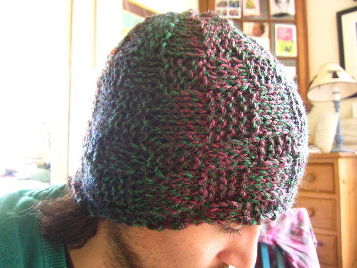 Gorro de lana tejido a palillo