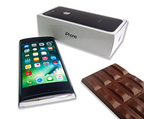 """CHOCOLATE BIRTHDAY GIFT """"iPhone 7 Plus style""""! ☀ It's funny gift food will be a great holiday gift idea! BIRTHDAY GIFT CHOCOLATE iPhone 7 Plus - FUNNY CHOCOLATE GIFT BOX (Jet Black (Prime))"""