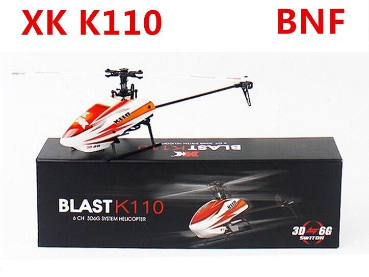 Original XK K110 BNF (without transmitter , battery, charger ) 6CH Brushless 3D 6G System RC Helicopter BNF //Price: $1373.60     #techie