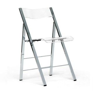 @Overstock   Acrylic Folding Chairs (Set Of 2). Set Of Two Sleek