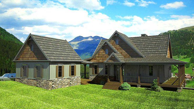 1000 ideas about mountain house plans on pinterest for Mountain vacation home plans
