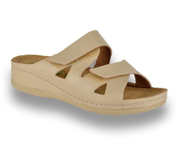 . COMFORT papucs | Comfort női papucs bőr 15124 Bézs | Webáruház | Tamaris, Jana és Comfort webáruház
