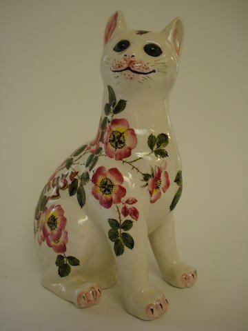 """Wemyss кошка Брайан Адамс по """"Шиповник"""" 31см высокий, впечатление Wemyss, окрашены в зеленый Wemyss / B.Adams, Эксон, B125"""
