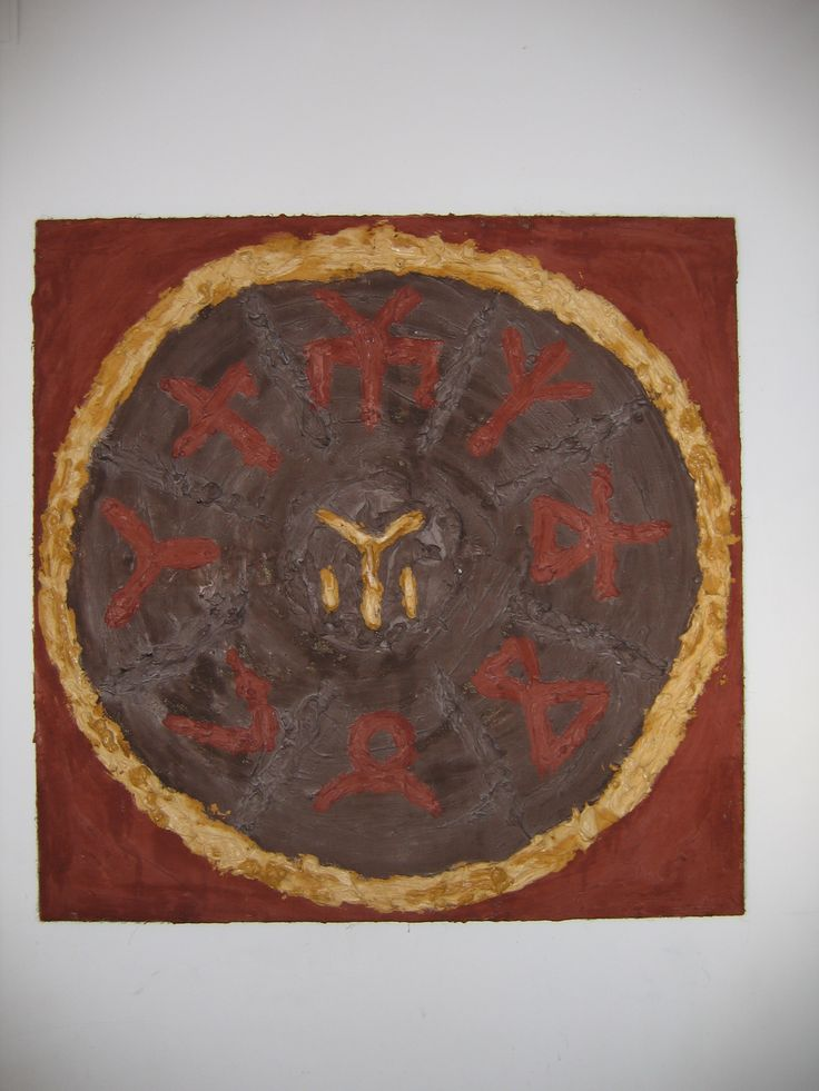 """THE """"TANGRA"""" SIGN WITH SOME RUNIC SYMBOLS OF ROSETTE FROM ..."""