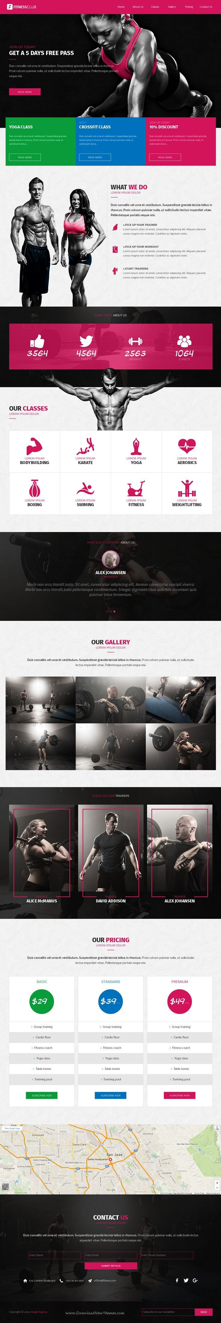 Fitness Club is a clean and modern looking, responsive one page #website template built with Adobe #Muse. It has a sport, #fitness, aerobics, body building #gym related theme but it can be easily adjusted to fit well with any kind of topic.