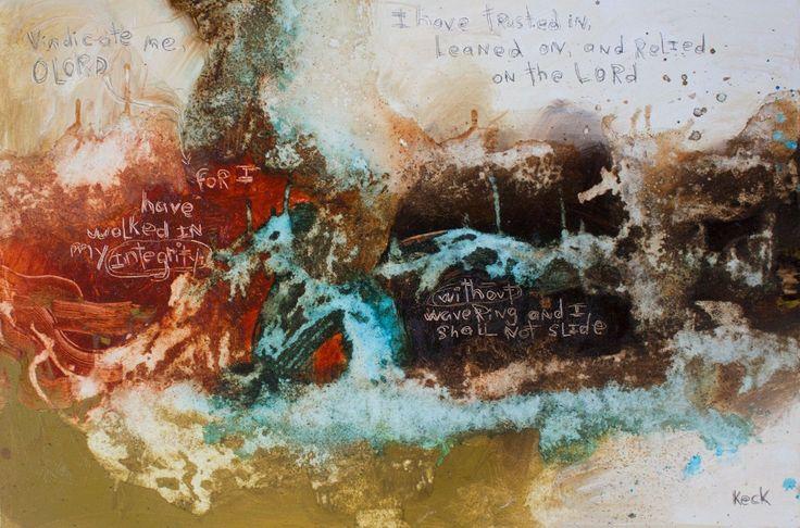SCRIPTURE ART Canvas Print of Psalm 26:1 #051603