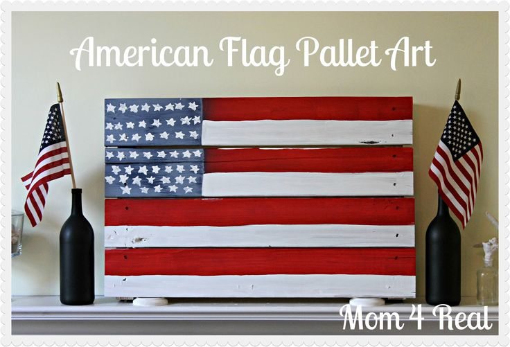 American Flag Pallet Art - Mom 4 Real