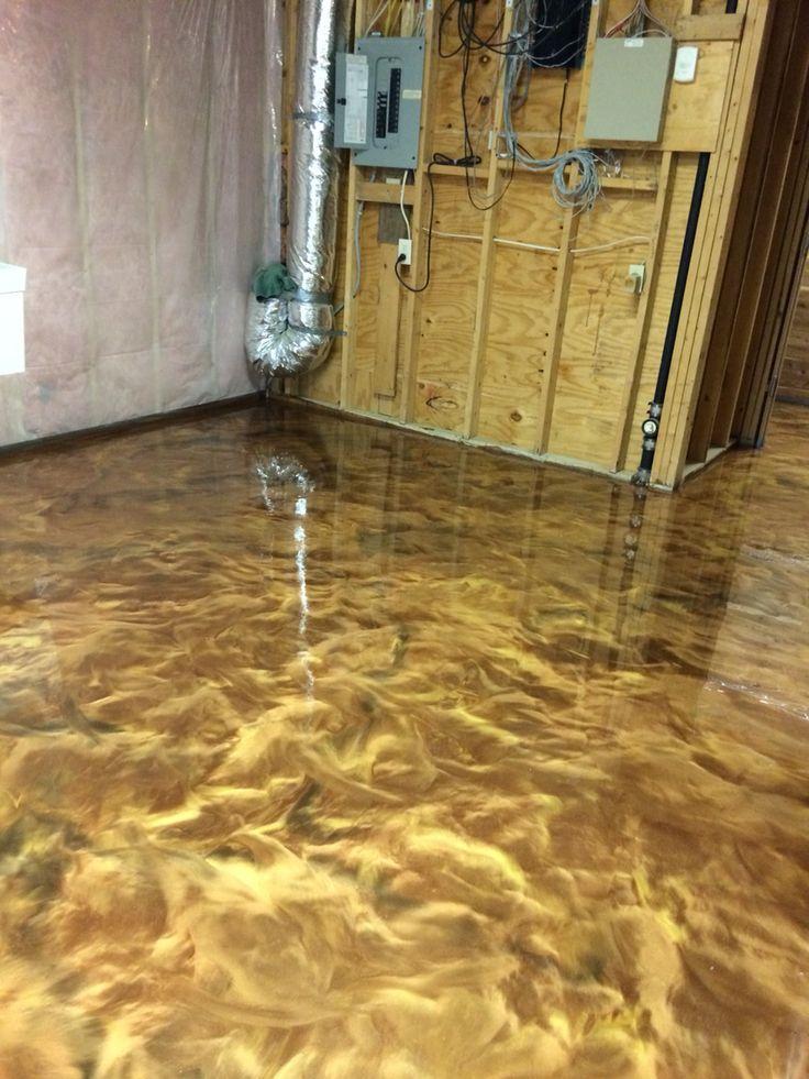 Another dynamic epoxy floor by sierra concrete arts for Decorative concrete floors