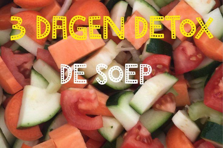 Detox soep met zoete aardappel